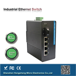 Anti Vibration, Isolation ,Surge Protection 1000m Industrial Gigabit Ethernet converter