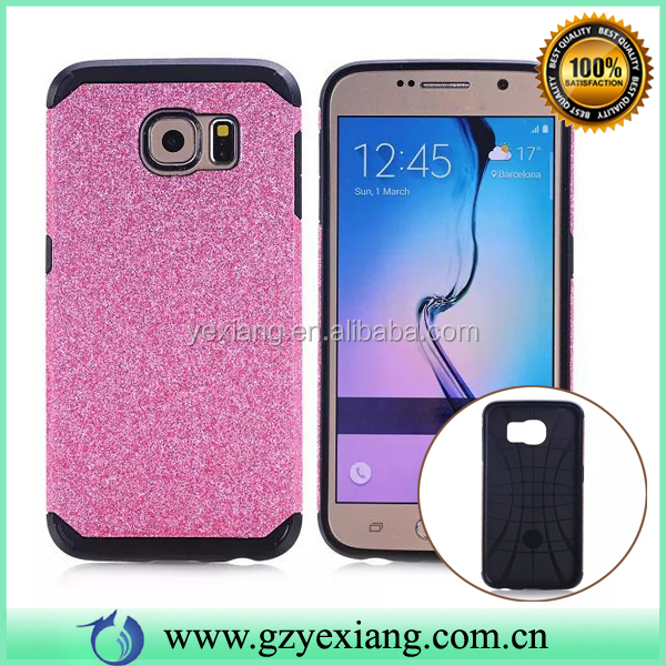 Chinese Market Trends Hybrid Armor Case For Samsung Galaxy S6 Bling Skin