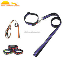 High quality nylon Dog Safety Harness dog collar and dog leash