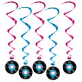 Rock and Roll Whirls Hanging Swirls Ceiling Hanging Swirls Party Decorations