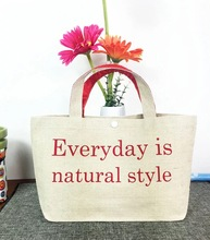logo printed promotional plain custom recycled small cotton bag