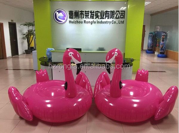 2016 hot ce certificate pvc adult 190cm large water and swimming pool float/inflatable float/inflatable pink flamingo float