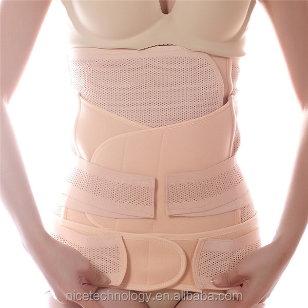 HOT 3 in 1 Set Postnatal Belly Slim Body Shaper Shapewear Belt Trimmer Girdle