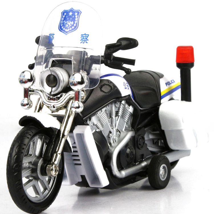 Alloy police car motorcycle toy model automobile race cars acoustooptical WARRIOR alloy car toy 4