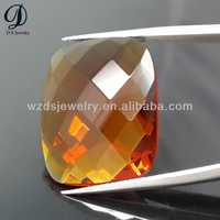 Top clarity Rectangle turtle cut cz synthetic gemstone