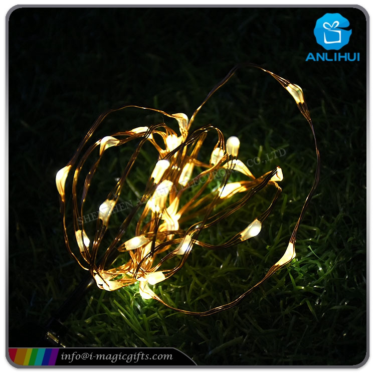 Twinkling USB operated copper wire LED fairy string lights