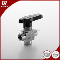 "China supplier 1/4""NPT Stainless Steel high pressure 3pc ball valve for gas"