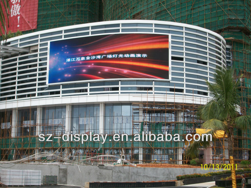 Pixel Pitch 16mm P16 Outdoor used led tv building advertising display screen sign video billboards