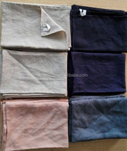 stone washed pure linen napkins in dyeing colors