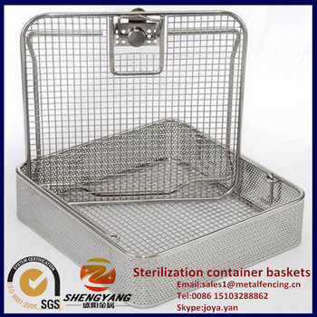 Stainless steel instrument baskets laboratory applied scalpel loading baskets smooth surface sterilization container baskets
