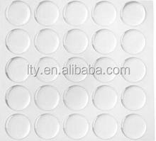 Shelf adhesive transparent Round 3D dot epoxy sticker sheet