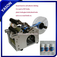 Economic Simple YS-50 Semi-auto Round Bottle Labeling Machine, Semi-auto Labeler, Semi Automatic label applicator