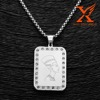 In Stock Egyptian Pendant Pharaoh Pendant Stainless Steel Diamond Dog Tag Pendant