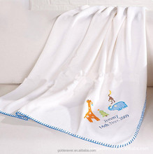 Hot sales newest minky baby blanket high quality embroidery baby blanket