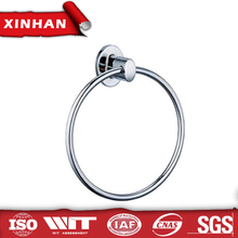 Special square style wall mount bathroom zinc alloy round towel ring/chrome plated