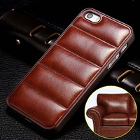 3D Sofa Case For iPhone 5 5S SE 6 6 plus Back Cover Luury PU Leather + Hard Plastic Fundas Coque Black For Apple Brand