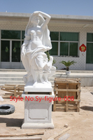 Antique polished Life size Hand carved female Marble figure statue/antique marble statues for sale