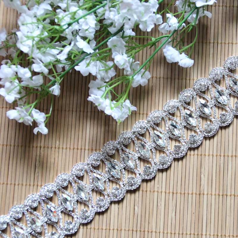 Wholesale Rhinestone Chain Trimming For Garments Bridal Trim Sash MYGRC121201