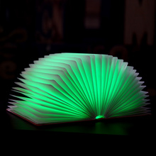 Newest Customized Logo Folding Novelty Decorative Led Book Reading Light With Usb Rechargable Function