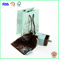 Fashionable Luxury Custom Printed Matte Drawer Jewelry box with Paper bag