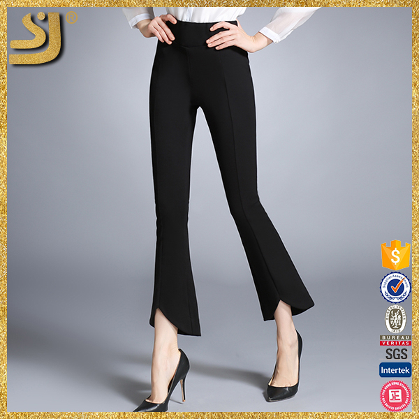 Fashion Retro Vintage Design Bell Bottom Stretch Pants For Women
