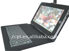 "Black USB Keyboard & Leather Case Pouch Cover for 7"" Tablet MID ePad aPad PC"