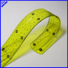 New designer 30cm rolling clear PVC flexible scale ruler
