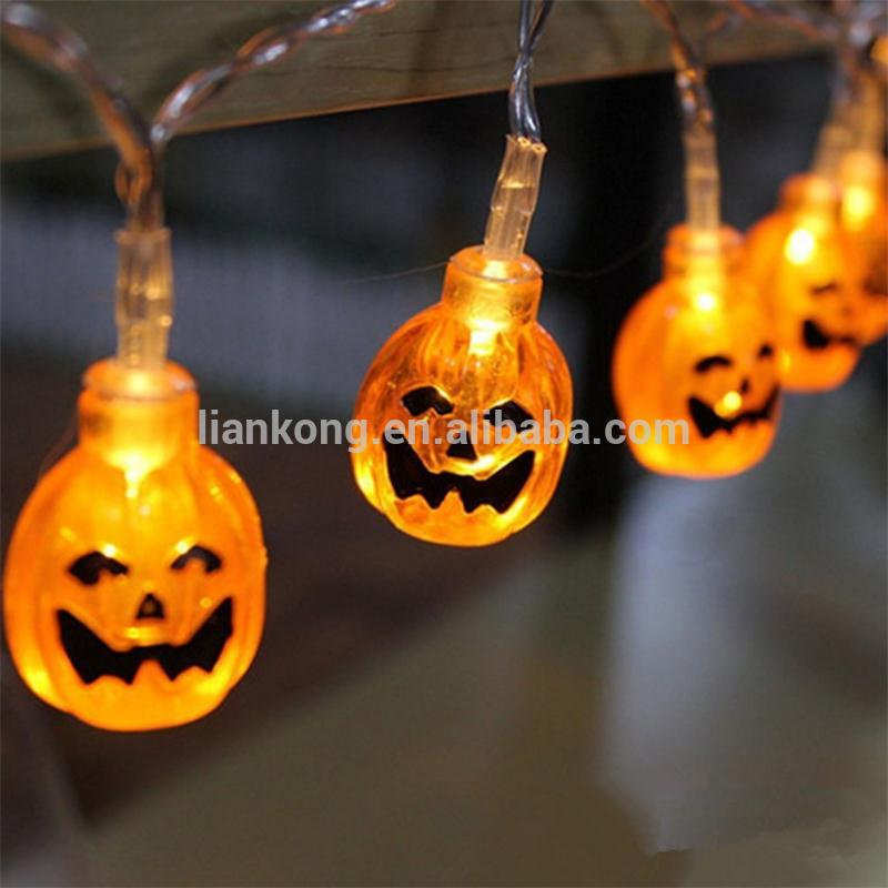 Wholesale String lighting cheap outdoor halloween pumpkin lamp good quality party supplies