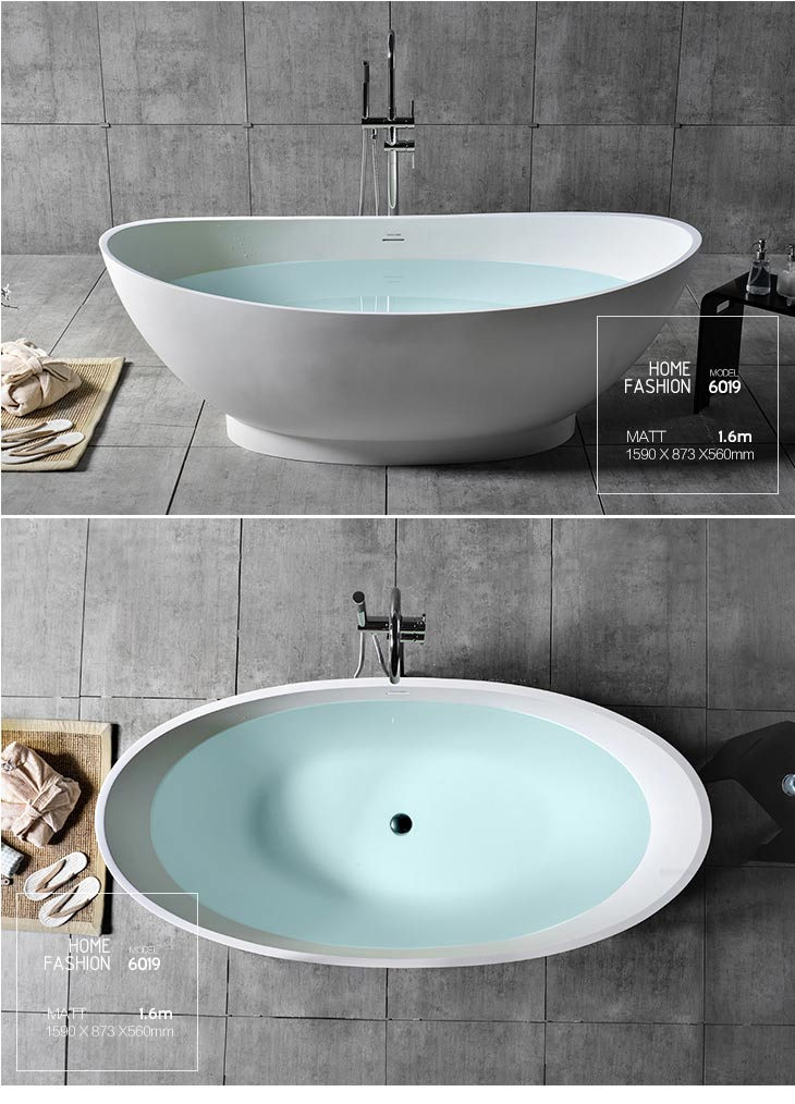 Man-made river stone bathtub