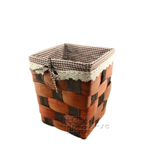 NEW!laundry basket made from leaf of cattail & paper string handmade laundry basket