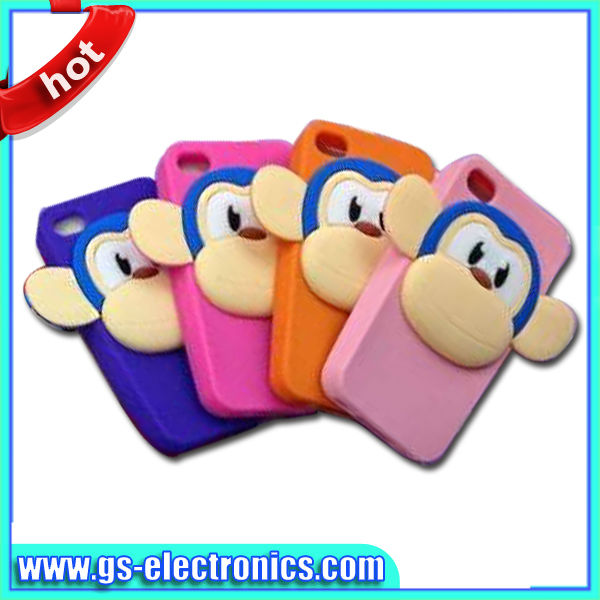 funny big mouth monkey silicon case for iphone 4g 5g