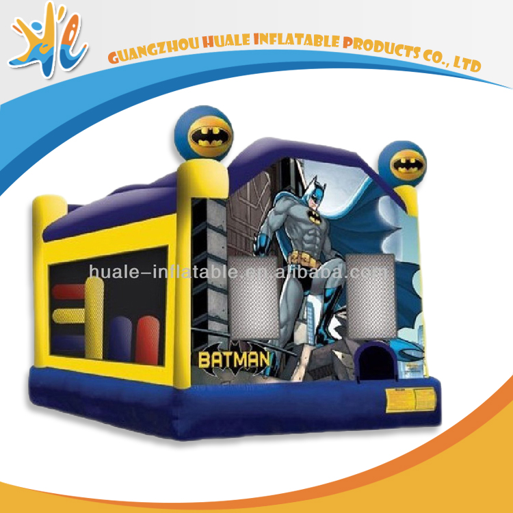 Commercial Use Outdoor Batman Inflatable Slip And Slide