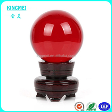 Wholesale Red Round Glass Artificial Crystal Healing Ball Sphere Decoration
