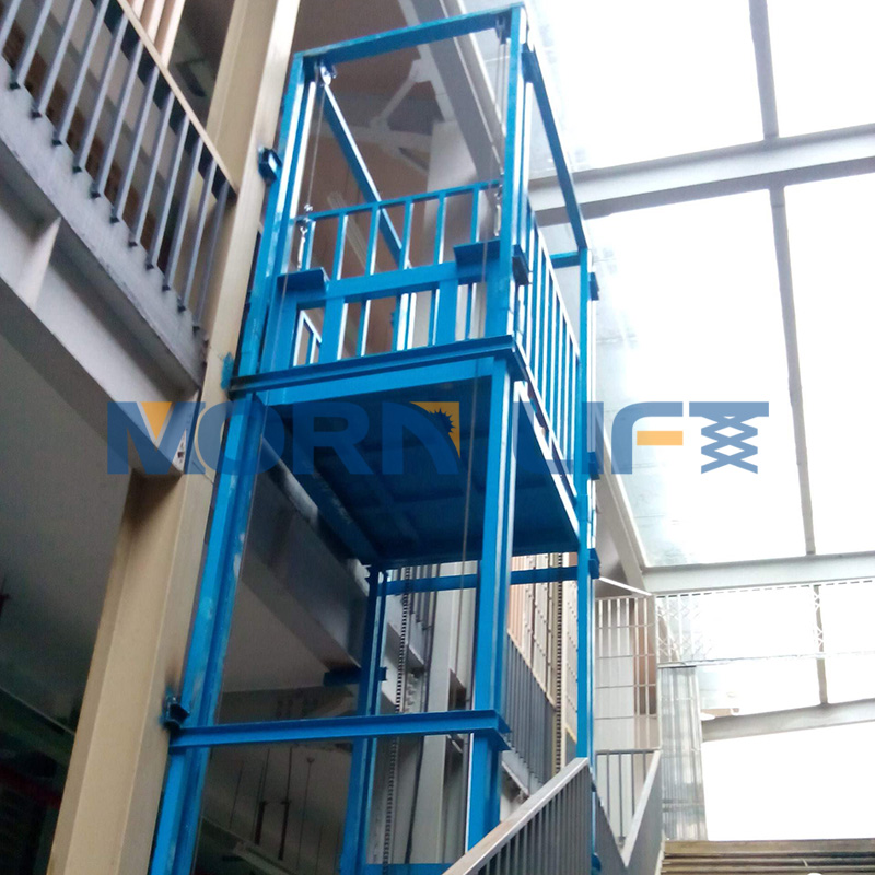 Warehouse vertical hydraulic freight elevator goods cargo lift