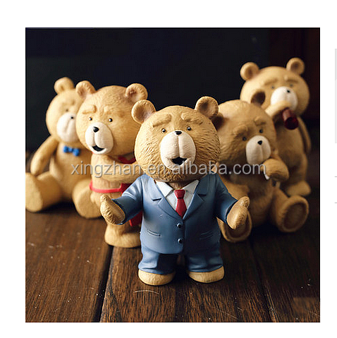 PVC bear plastic figures toy for kid action figures China supplier