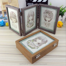 Wholesale Dream Girl Folding Solid Wooden Photo Frame (3 parts)