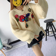 Fashion2017 Sequin Ethic Style Lovely Printed Sweaters