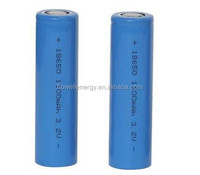 UL UN38.3 Approved 18650 Lithium iron phosphate battery 3.2v 1100mah / lifepo4 cell 18650