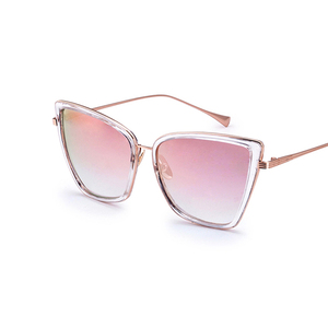 FONHCOO Wholesale Pink Frame High Level Metal Sunglasses For Women