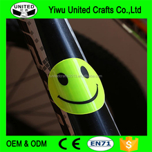 Smile face PVC reflective stickers /self adhesive reflective vinyl