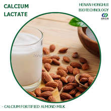 calcium-fortified almond milk added with l-calcium lactate powder
