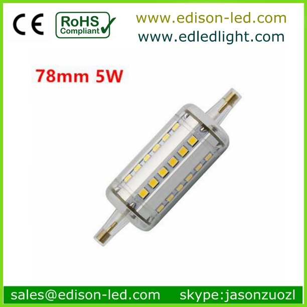 CE ROHS led lighting 360 degree 8w led R7S replace double ended halogen bulb