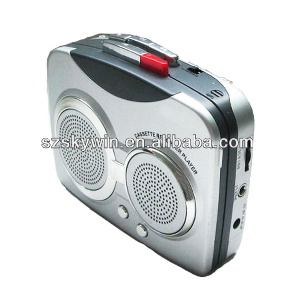 Portable cheaper mini walkman am/fm radio cassette player