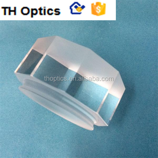 10 surfaces polished prism. 445nm fused silica glass Polygonal prism for laser