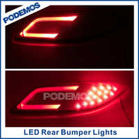 Car tuning rear bumper guide lights led rear bumper lights car reflector led lights for Honda HRV VEZEL