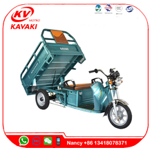 Cargo Electric Tricycle Battery Operated Loader E-Trike with Sun Roof three rounds electric tricycle