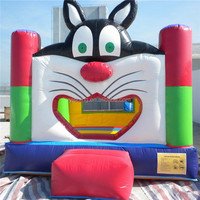 Cat bounce house, fun inflatable jumper, cat bouncer B1010