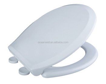 American standard Plastic WC Toilet Seats Cover with Stainless Steel Hinge