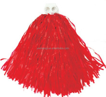 High Quality Red Pom Pom Cheerleaders Hand Flower tinsel Christmas garland