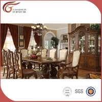 classic elegant wooden carved dining room set